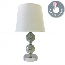 Mosaic Touch Lamp with White Shade