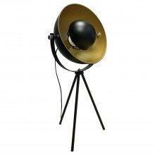 Industrial Style Black Tripod Table Lamp