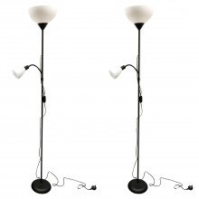 Set of 2 Black Mother & Child Floor Lights