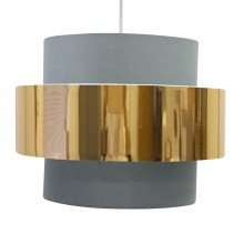 Grey with Copper Band 2 Tier Light Shade