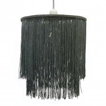 Grey 2 Tier Tassel Light Shade