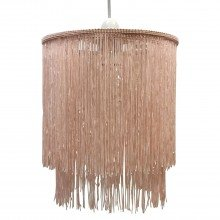 Pink 2 Tier Tassel Light Shade