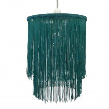 Teal 2 Tier Tassel Light Shade
