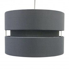Grey Layered Easy Fit Drum Light Shade