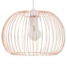 Polished Copper Wire Easy Fit Light Shade