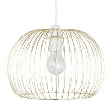 Satin Brass Wire Easy Fit Light Shade