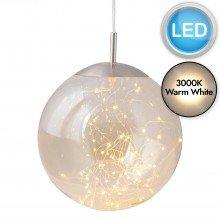 Nero - Amber Glass LED Pendant