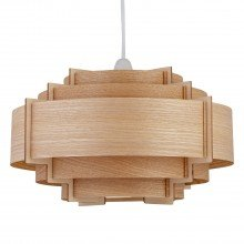 Natural Wood Easy Fit Light Shade