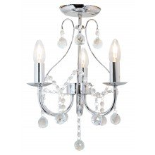 Chrome 3 Light Crystal Chandelier