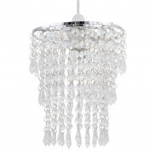 Clear Jewel Tiered Light Shade