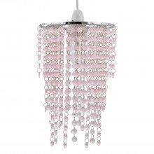 Pink Jewelled Waterfall Light Shade