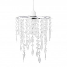 Chrome & Clear Jewels Light Shade