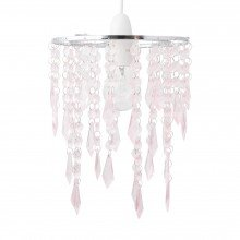 Chrome & Pink Jewels Light Shade