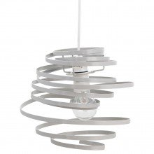 Grey Metal Swirl Easy Fit Light Shade