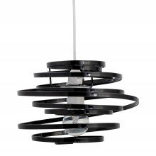 Black Metal Swirl Easy Fit Light Shade