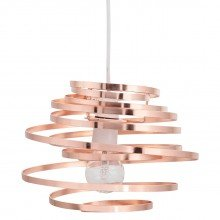 Copper Metal Swirl Easy Fit Light Shade