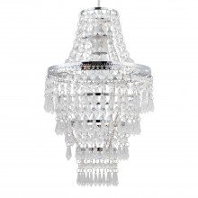 Chrome Tiered Chandelier Style Light Shade