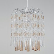 Clear and Champagne Acrylic Jewelled Easy Fit Light Shade