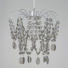 Smoke Acrylic & Chrome Jewelled Easy Fit Light Shade