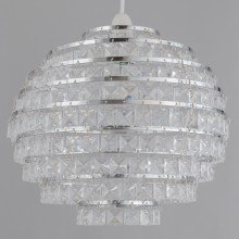 Clear Acrylic Jewelled Globe Easy Fit Light Shade