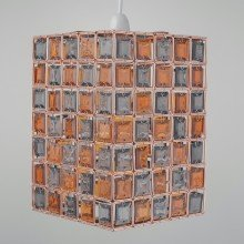 Copper, Amber & Smoke Acrylic Jewelled Easy Fit Light Shade