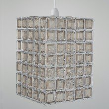 Clear & Smoke Acrylic Jewelled Easy Fit Light Shade
