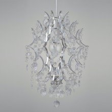 Clear Acrylic With Polished Chrome Detail Jewelled Easy Fit Light Shade