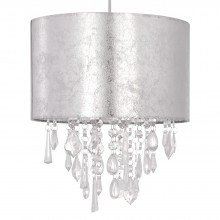 Silver Marble Affect Jewelled Light Shade