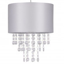 Light Grey Jewelled Easy Fit Light Shade