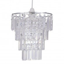 Clear Acrylic 4 Tier Easy Fit Light Shade