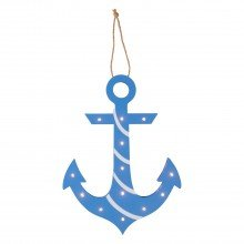 Blue LED Anchor Wall Light