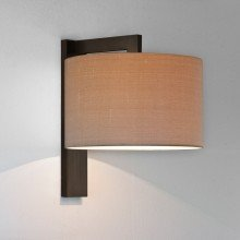 Astro Lighting - Ravello Wall 1222040 & 5016009 - Bronze Wall Light with Oyster Shade