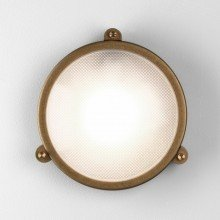 Astro Lighting - Malibu Round 1387001 (7969) - Coastal IP65 Antique Brass Wall Light