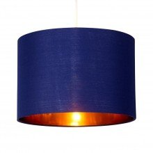 Navy Blue 25cm Light Shade with Gold Inner
