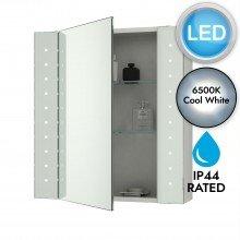 Battery Operated LED Illuminated Bathroom Cabinet