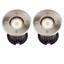 Set of 2 Lipa - Outdoor Recessed Ground Lights