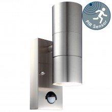 Blaze - Stainless Steel Outdoor Up Down Motion Sensor Wall Light