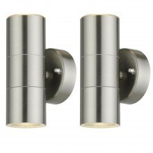 Set of 2 Blaze - Stainless Steel Outdoor Up Down Wall Lights