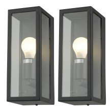 Set of 2 Montrose - Black Outdoor Wall Lights
