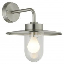 Montreal - Brushed Stainless Steel Outdoor Wall Light