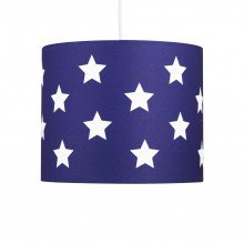 Blue with White Stars 25cm Light Shade