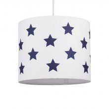 White with Blue Stars 25cm Light Shade