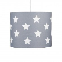 Grey with White Stars 25cm Light Shade