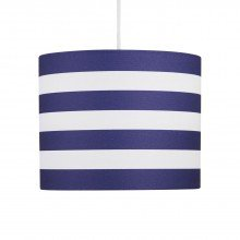 Navy Stripes 25cm Light Shade