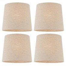 Set Of 4 30cm Natural Linen Lampshades