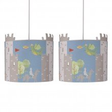 Set of 2 Dragon & Castles Light Shades