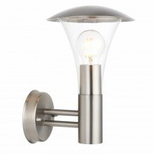 Brushed Chrome Outdoor Wall Lantern