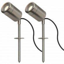 Set of 2 Marine Grade Stainless Steel Spike Lights