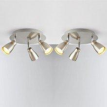 Set of 2 Brushed Chrome 3 Light LED Spotlights