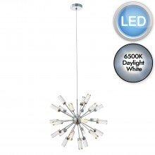 Bubble Glass LED Sputnik Style 24 lt Pendant